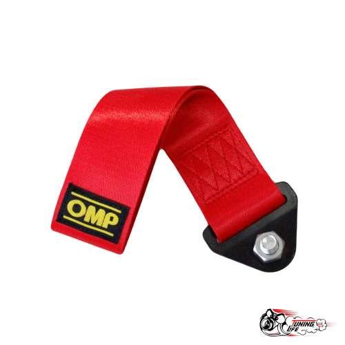Cтропа буксировочная (петля) OMP красная