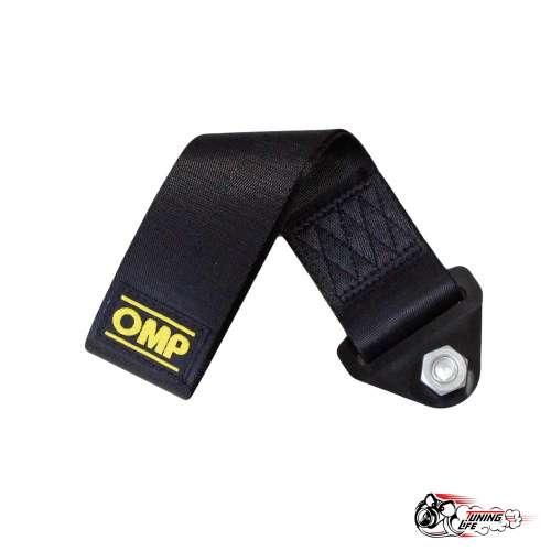 Стропа буксировочная (петля) OMP черная