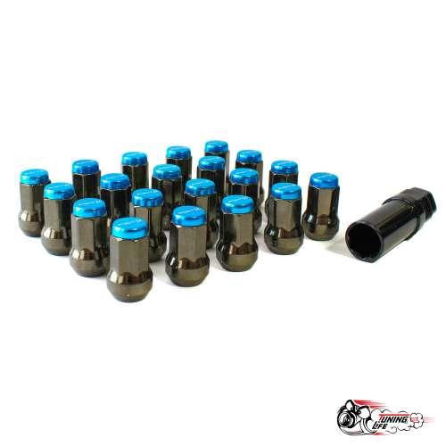 Гайки колесные Project MU Super 7 lock синие (М12х1.5)