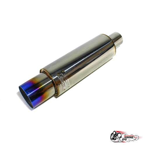 Глушитель HKS Hi-Power 63мм вход / 89 мм выход (универсальный) тихий бас