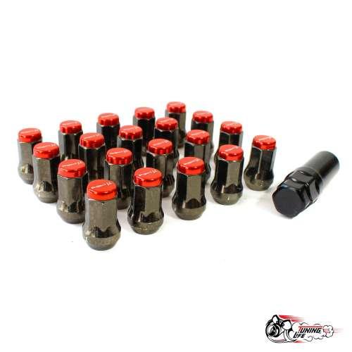 Гайки колесные Project MU Super 7 lock красные (М12х1.5)