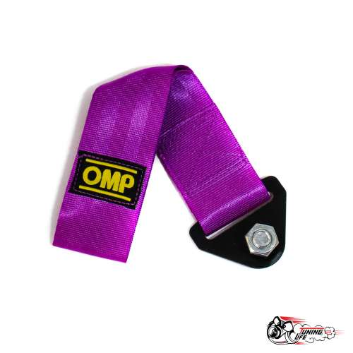 Стропа буксировочная (петля) OMP фиолетовая