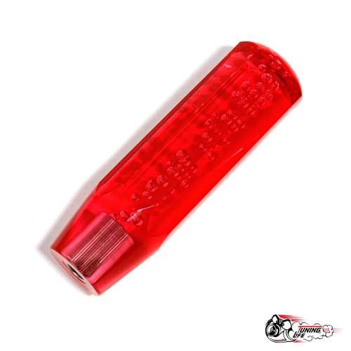 Насадка на ручку КПП в стиле JDM 15 см,граненая (красная)
