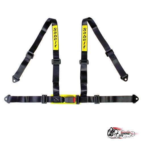 Ремень безопасности Sabelt 4-х точечный стандартный крепеж (черный)