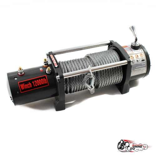 Лебедка электрическая Electric Winch 12000 LBS 24v со стальным тросом