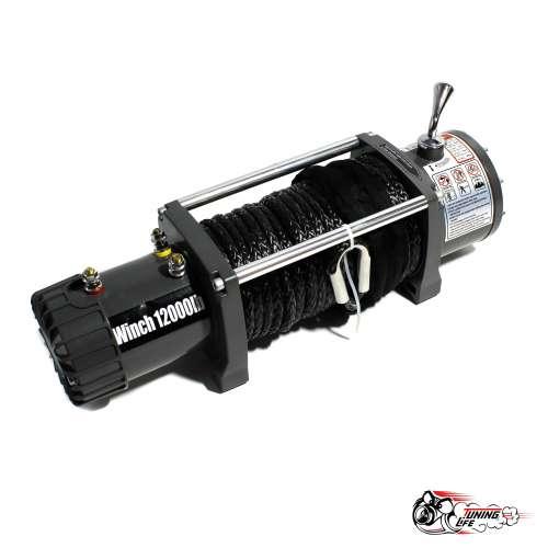 Лебедка электрическая Electric Winch 12000 LBS / 5443 кг с синтетическим тросом