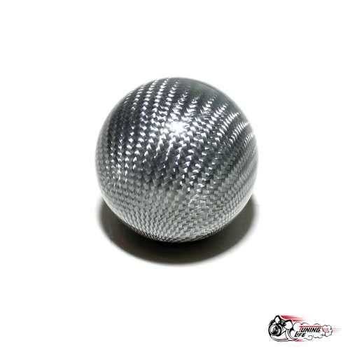 """Насадка на ручку КПП """"шар"""" серый карбон"""
