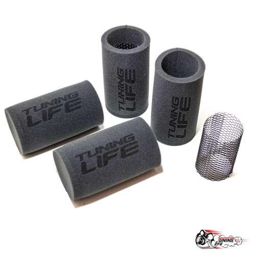 Фильтры нулевого сопротивления TUNING LIFE для 4-х дроссельного впуска (длинные)