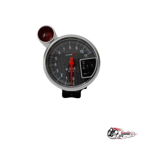 Тахометр RS 5 дюймов со вспышкой (шифт-лампой)