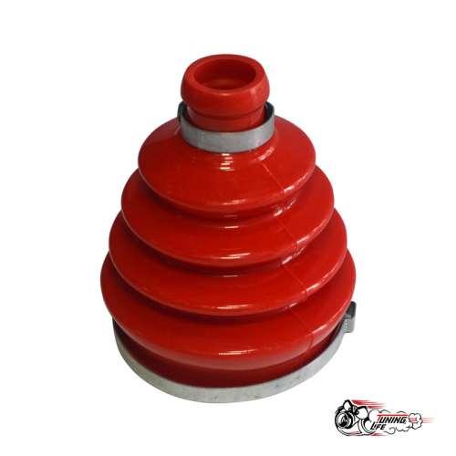 Пыльник привода Шевроле НИВА внутренний (стакан) с хомутами красный Полиуретан (1 к-т на 1 шрус)