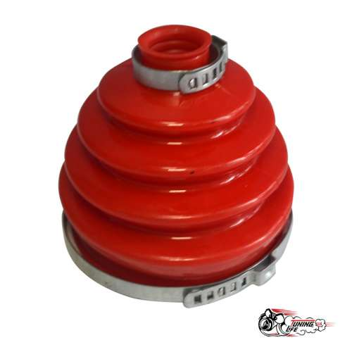 Пыльник привода Шевроле НИВА наружный (гофра) с хомутами красный Полиуретан (1 к-т на 1 шрус)