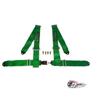 Ремень безопасности TAKATA style 4-х точечные со стандартной застежкой (зеленый)