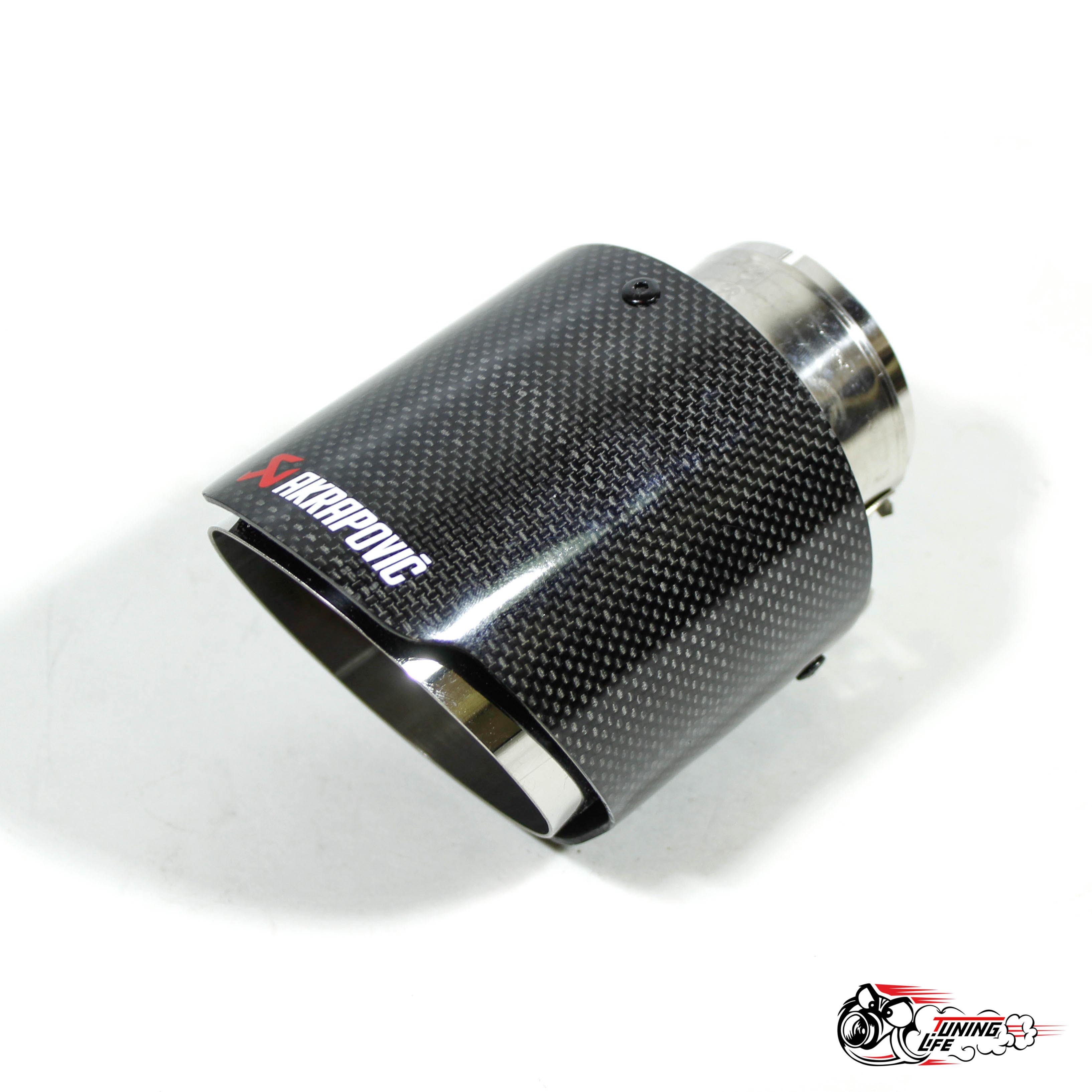 Насадка на глушитель Akrapovic Style V2 карбон (глянец, 102mm)