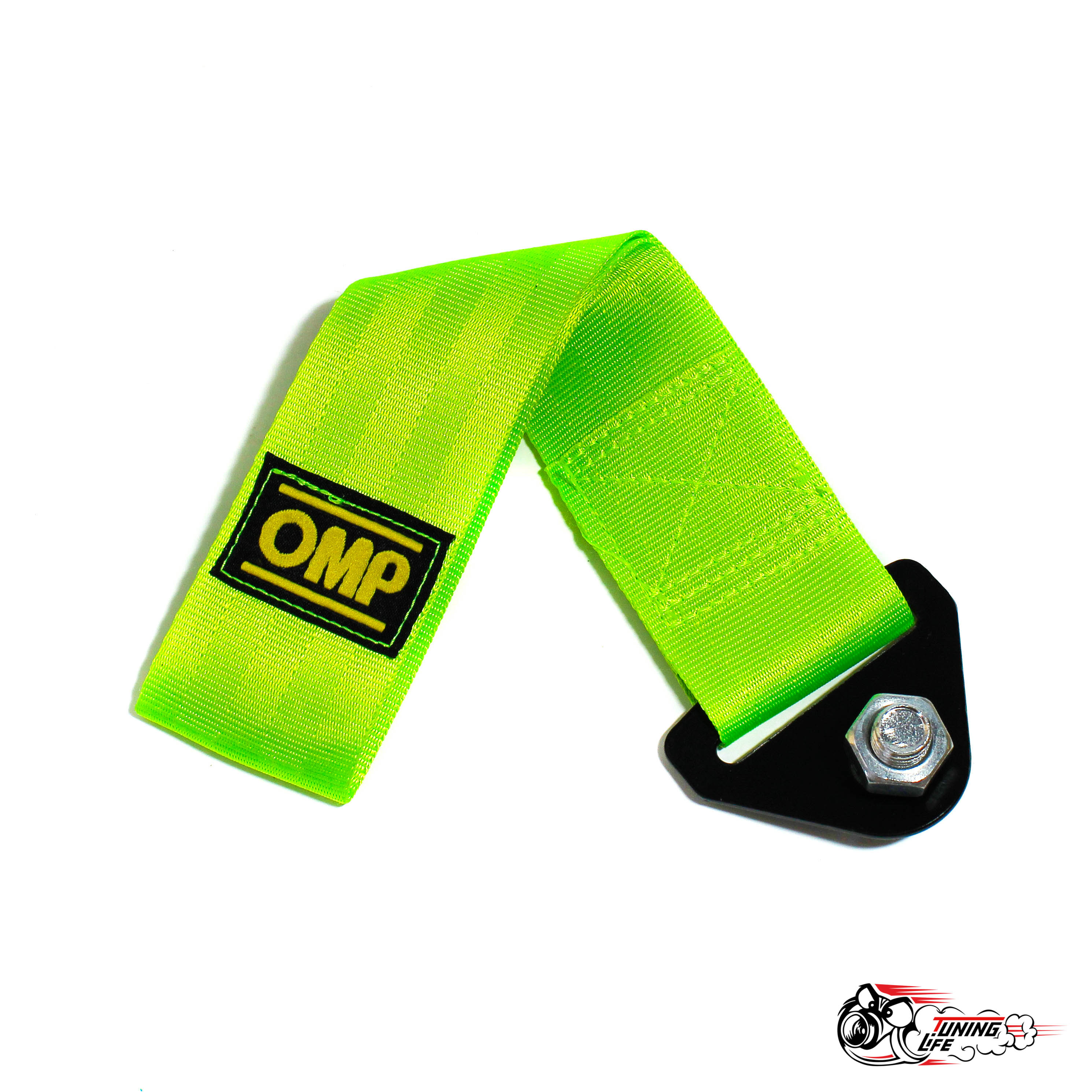 Стропа буксировочная (петля) OMP зелёная
